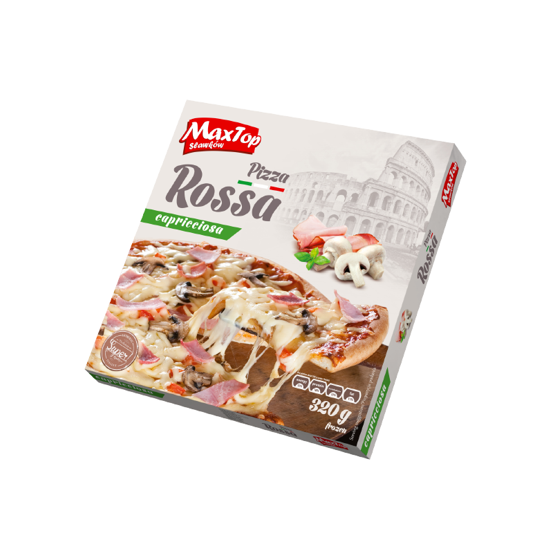 "Pizza ""Rossa"" with ham and mushrooms"