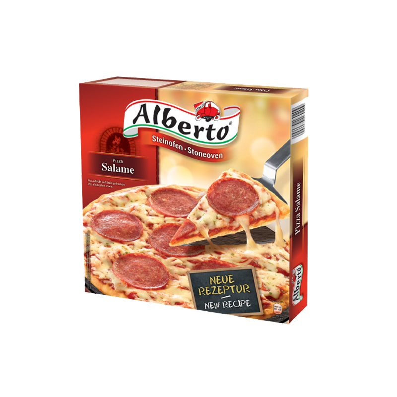 """Furnace baked pizza """"Alberto"""" with salami"""