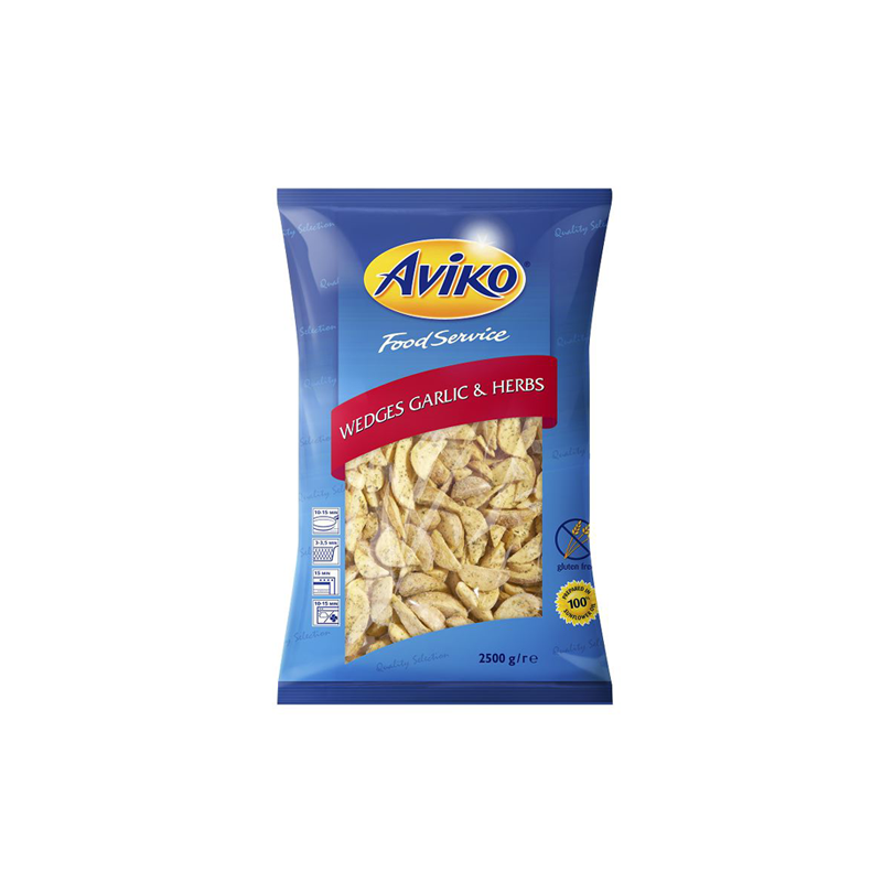 Aviko wedges garlic and herbs