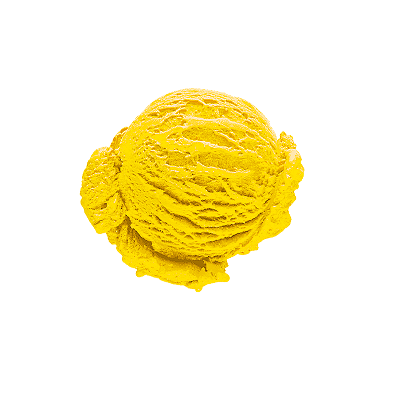 Mango-melon flavored ice cream (13%)