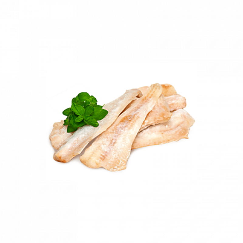 Brown cod fillets without skin, without additives
