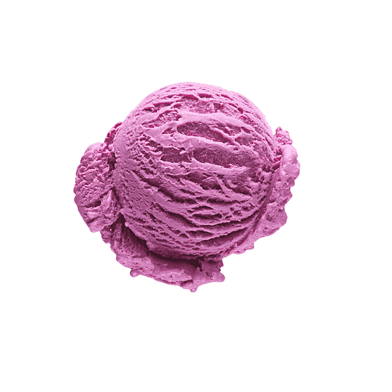 Blueberry-blackberry flavored ice cream (13%)