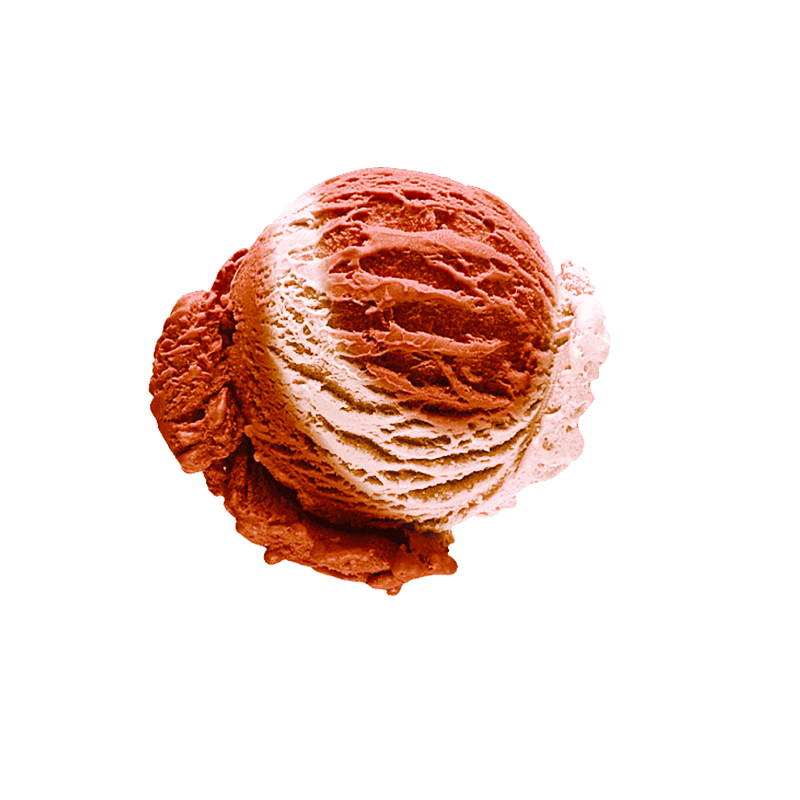Vanilla-caramel ice cream with cranberry filling
